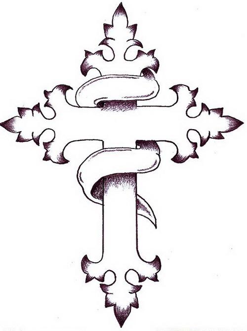 Simple Cross Tattoo Designs