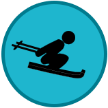 Skiing Down Hill Icon