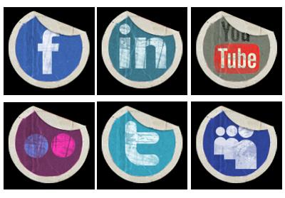 Social Media Facebook Twitter YouTube Icons