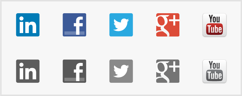 Social Media Icons Facebook Twitter Google Plus