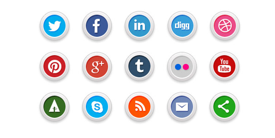 Social Media Icons Transparent