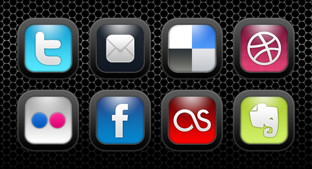 Social Networking Icons Black
