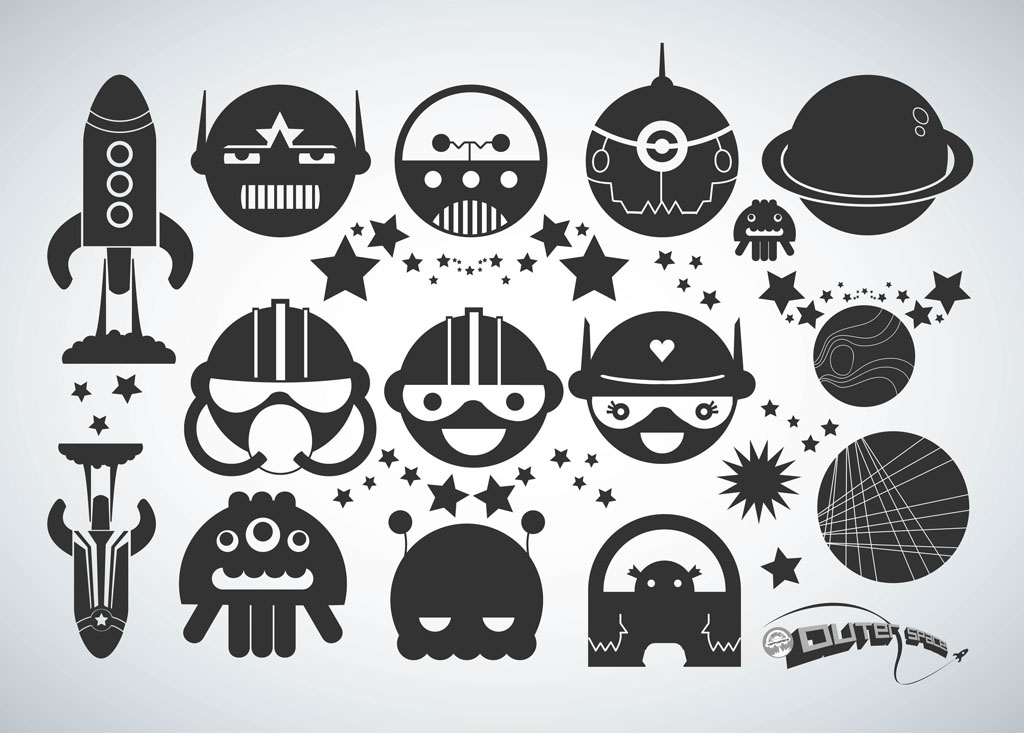 Space Cartoons Vector