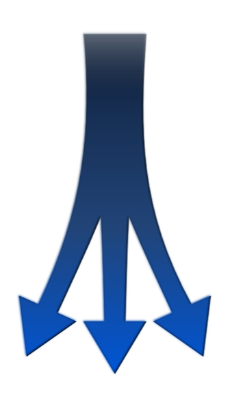 Split Arrow Clip Art