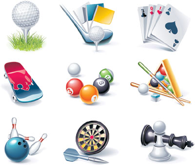15 Multi Icon Sports Vector Images