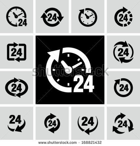 Store Hours Icon Vector