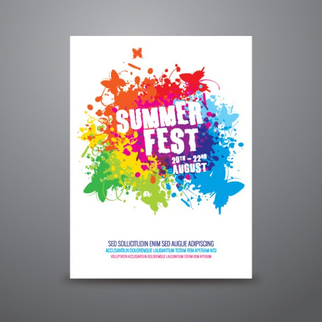 Summer Festival Flyer Template Free
