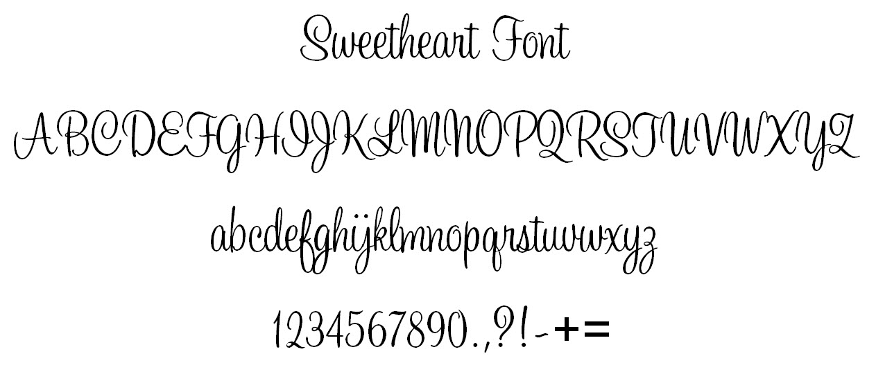 5 Sweetheart Script Font Images