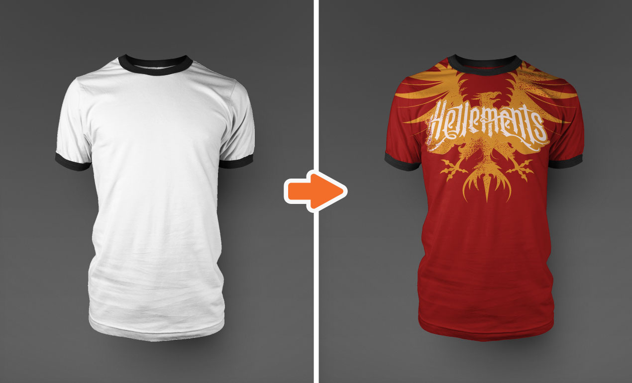 14 Photoshop T-Shirt Template Mockup Images