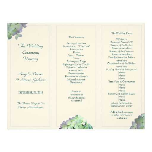 trifold wedding program template vatoz atozdevelopment co