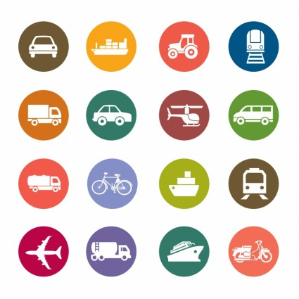 Transportation Icons Free Download