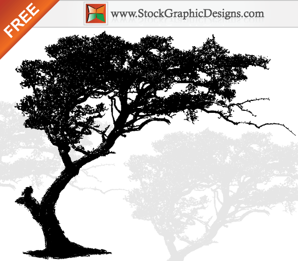 Tree Silhouette Vector Art Free
