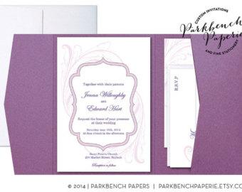 Tri-Fold Pocket Invitation Templates