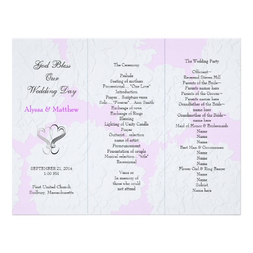 15 Tri Fold Wedding Invitations Template Psd Images Tri