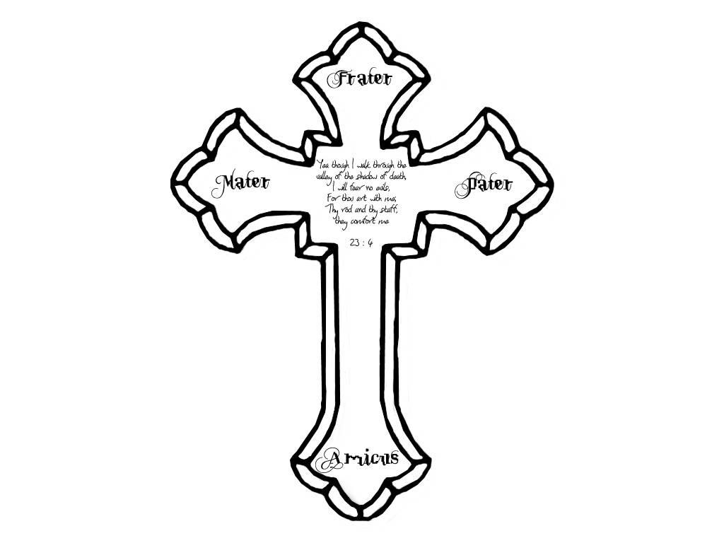 Tupac Cross Tattoo Design