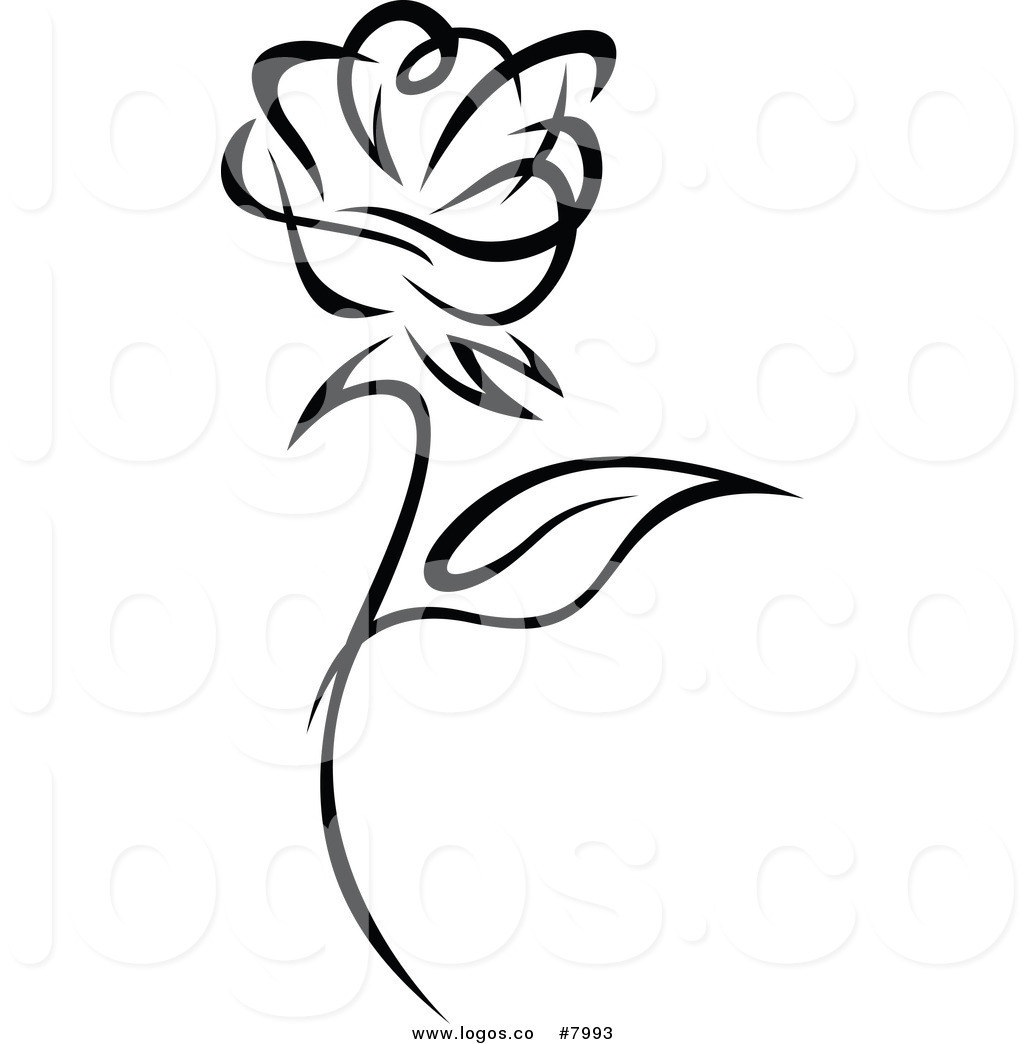 clipart roses black and white - photo #18