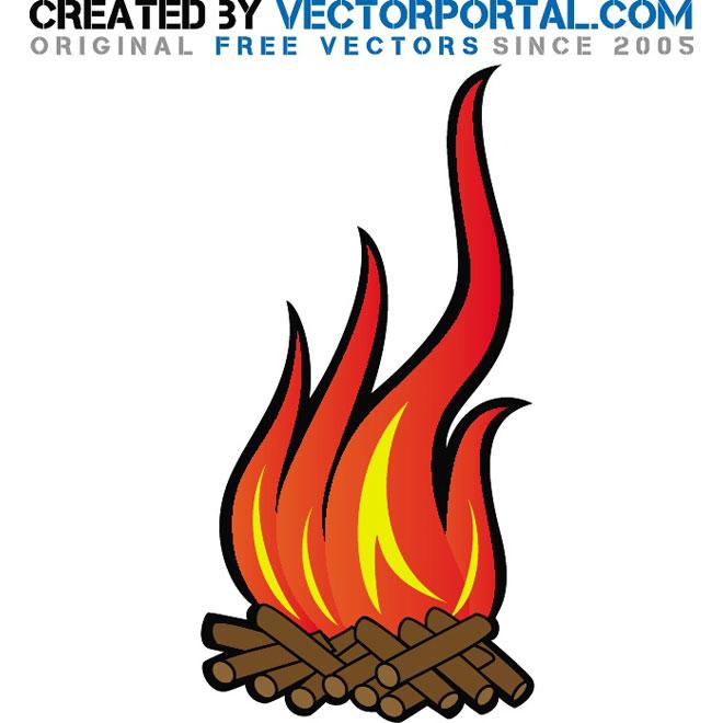 Vector Flame Clip Art