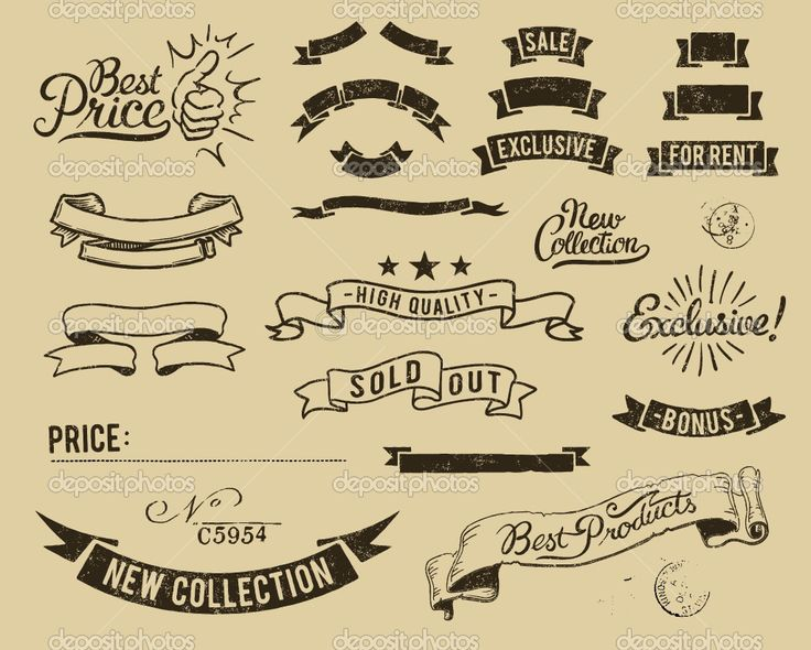 12 Old Banner Vector Images