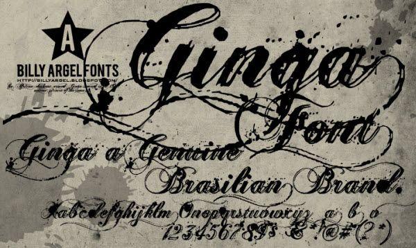 Vintage Tattoo Lettering Font
