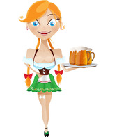 Waitress Cartoon Character