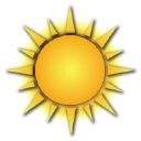 Weather Channel Mostly Sunny Icon