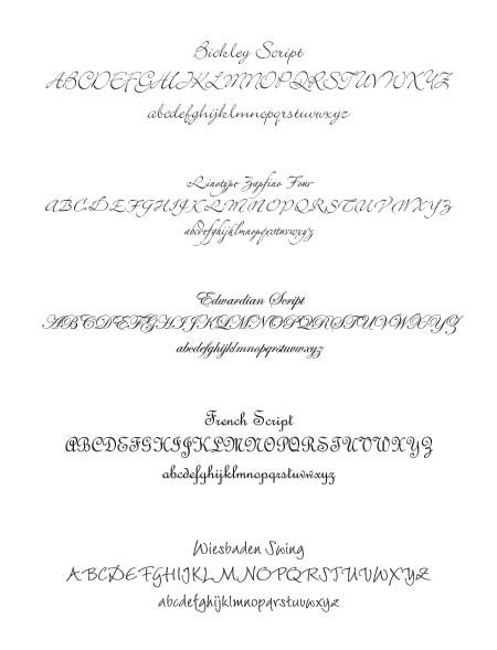 Wedding Invitation Font Examples