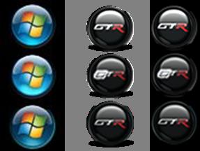 Windows 7 Start Button Icon BMP