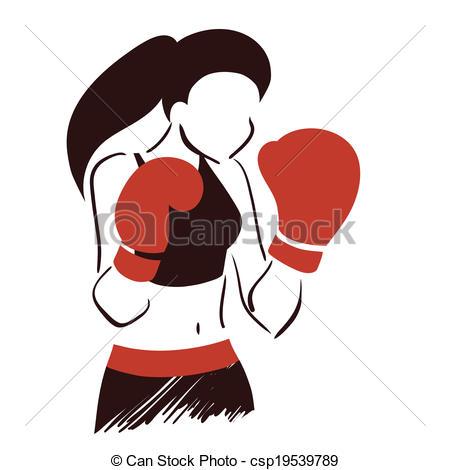 Women Boxing Clip Art