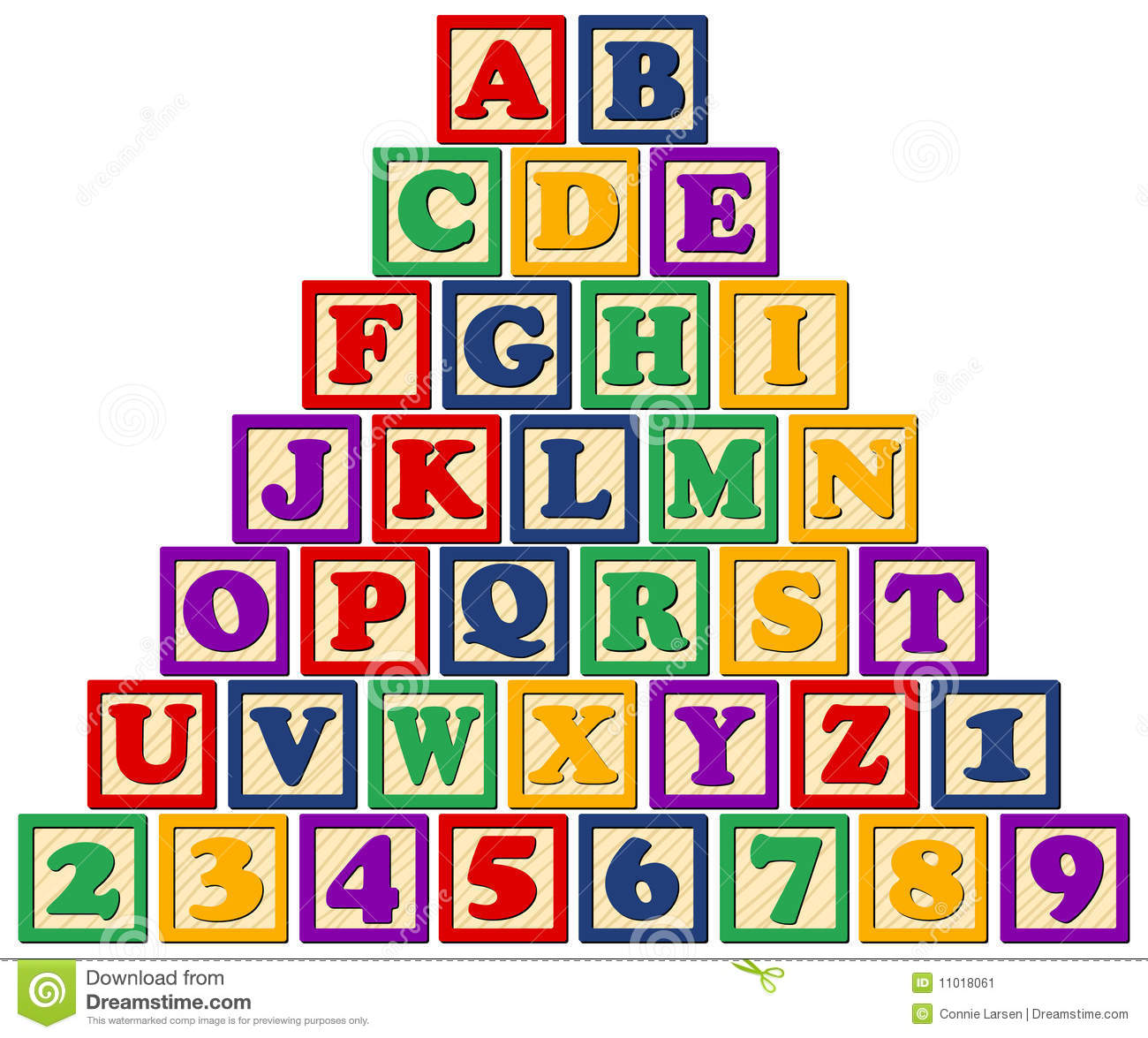 Alphabet blocks Vector