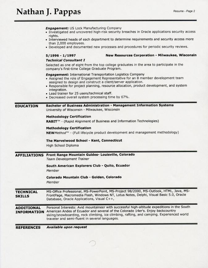 resume header designs
