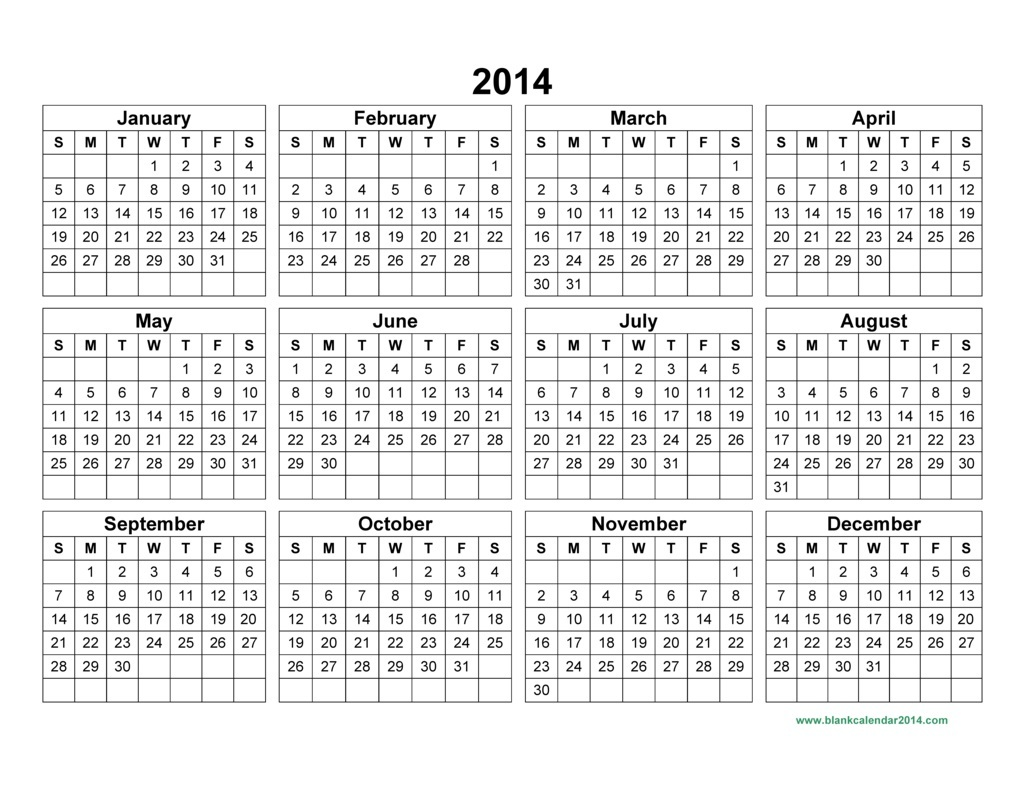 2014 yearly calendar template pictures to pin on pinterest for 2 month calendar template 2014