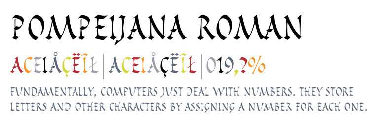 Ancient Roman Font Styles