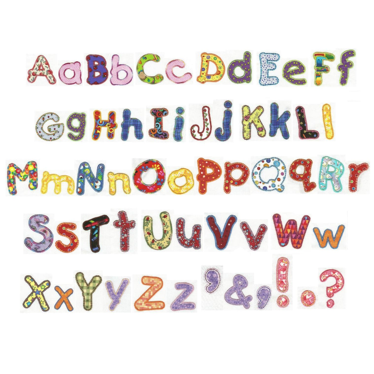 14 Machine Embroidery Designs Applique Alphabet Images - Free