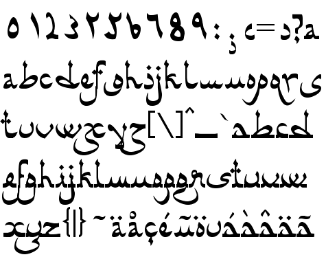 6 Latin Old World Font Images
