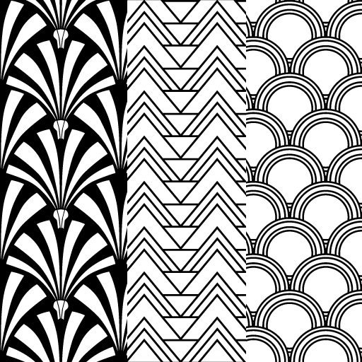 12 art patterns designs images pop art pattern art for Art deco patterns