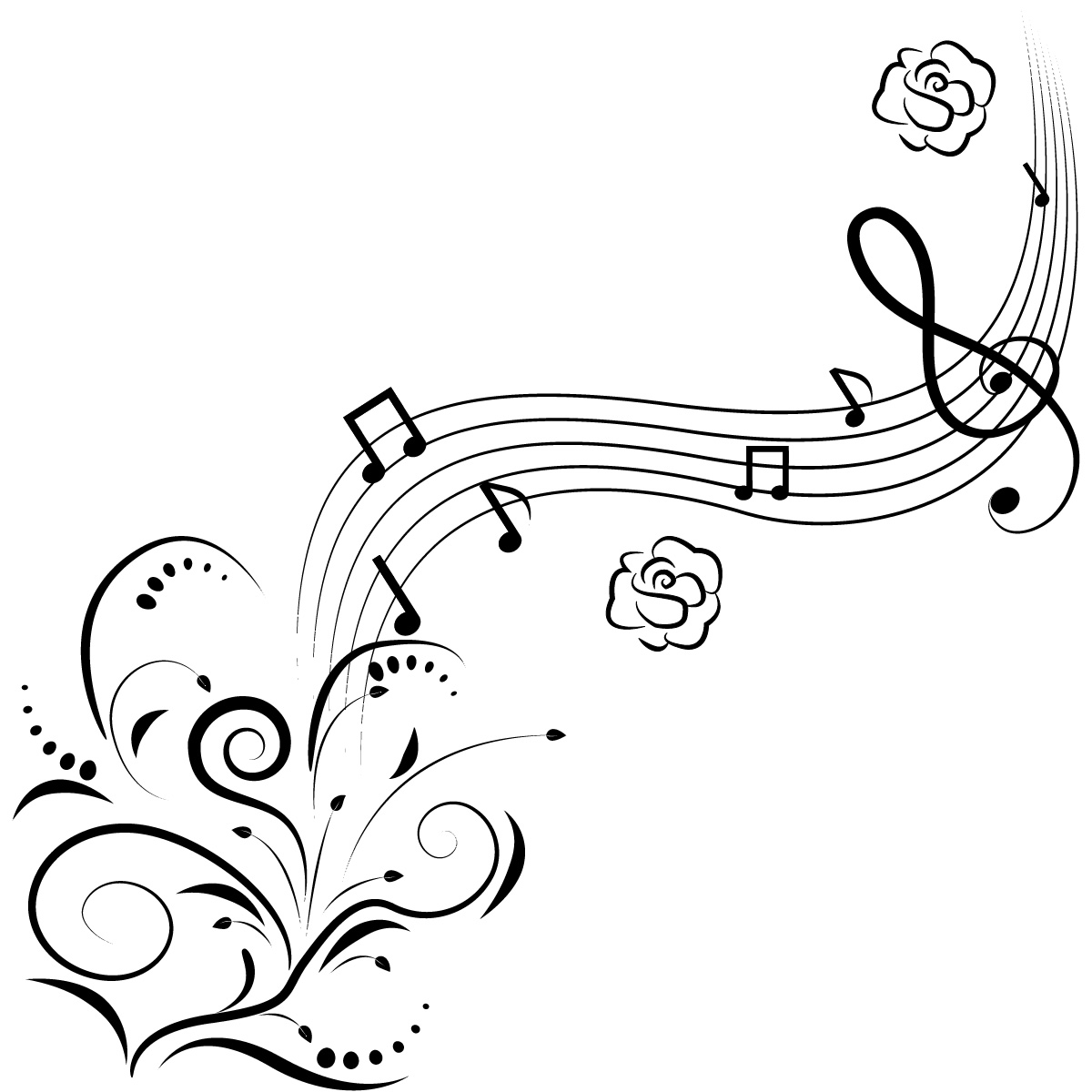 Art Music Notes Coloring Page