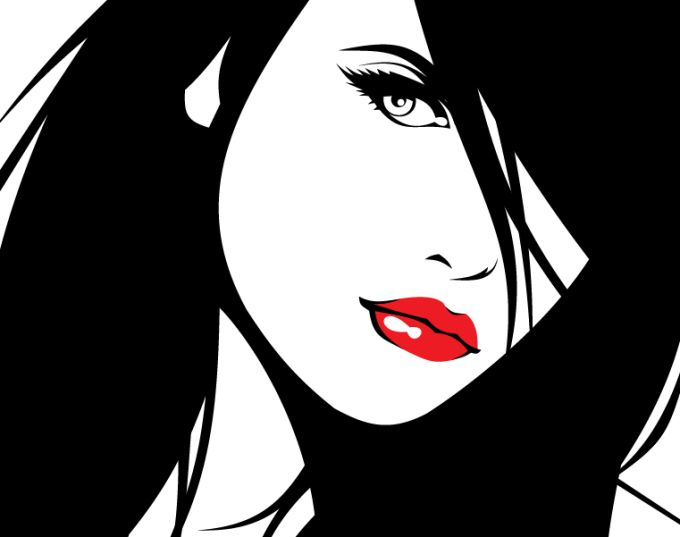 14 Dark Art Woman Vector Images