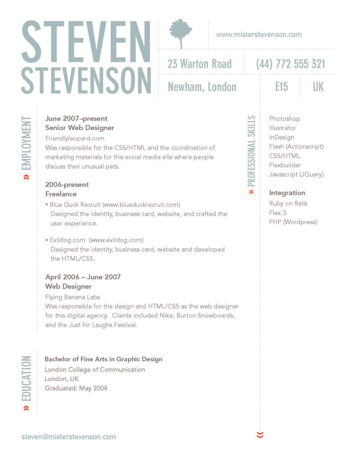 17 Resume Header Designs Professional Resume