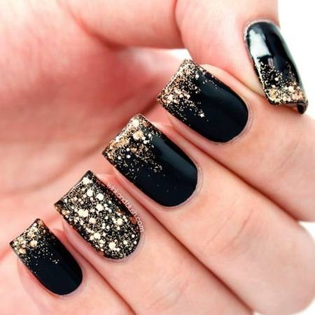 9 Black And Gold Nail Designs Images