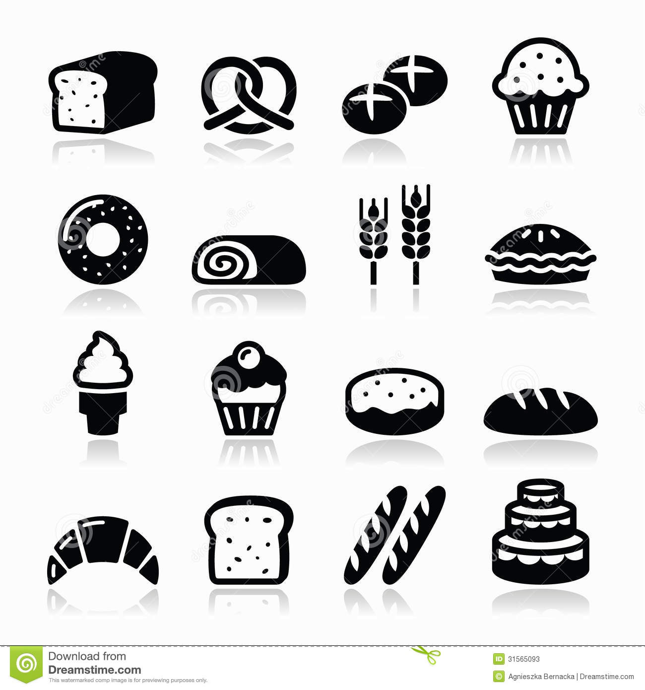 15 Pastry Icon Vector Images