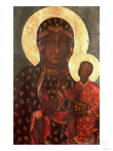 Black Madonna Russian Icon