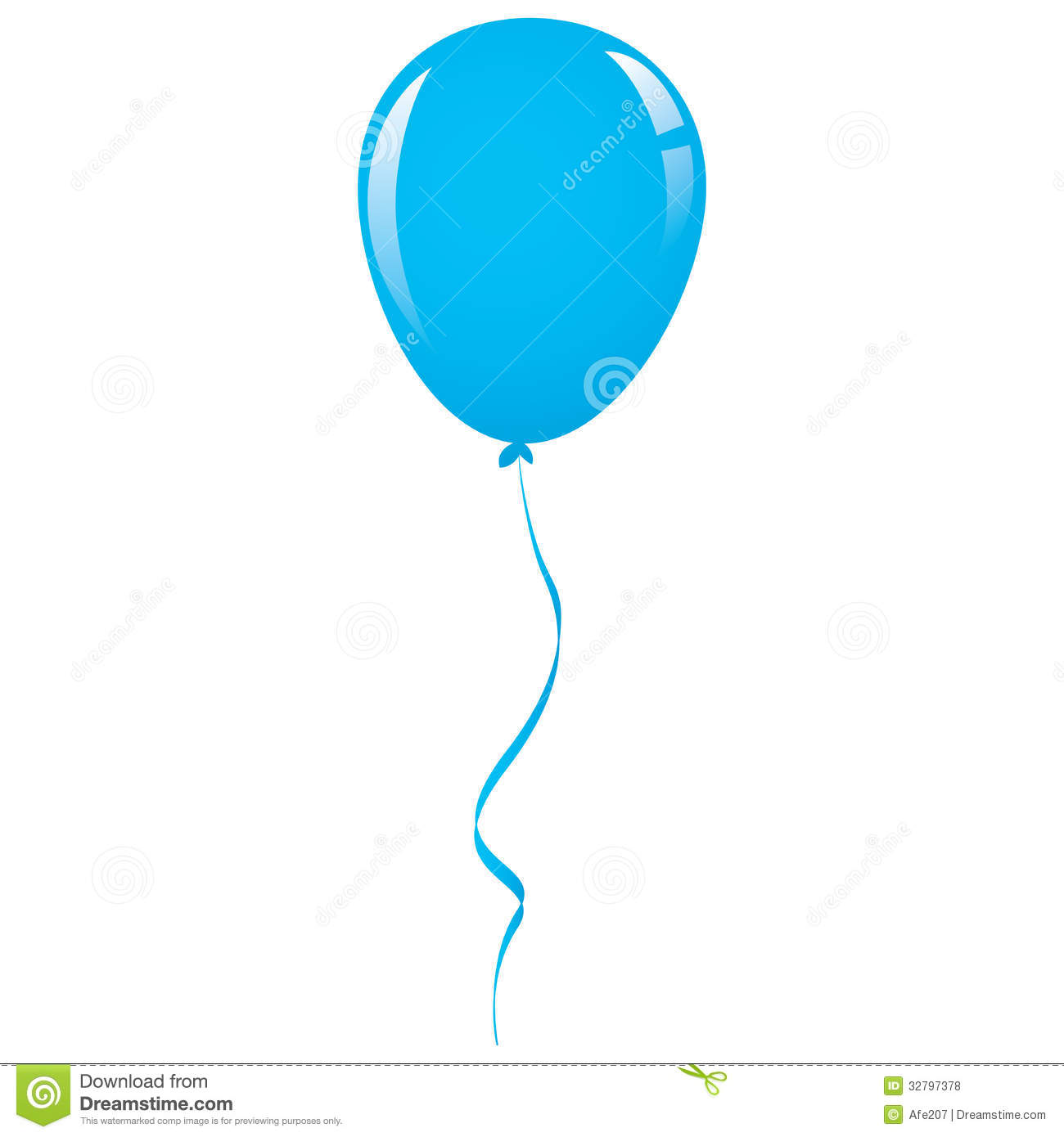 14 Blue Balloon Vector Images Cartoon Clip Art