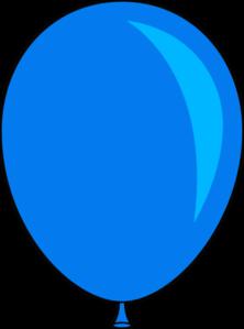Blue Single Birthday Balloon Clip Art