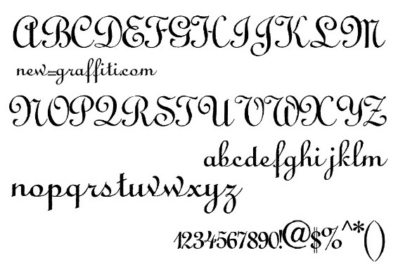 Calligraphy Alphabet Font Script