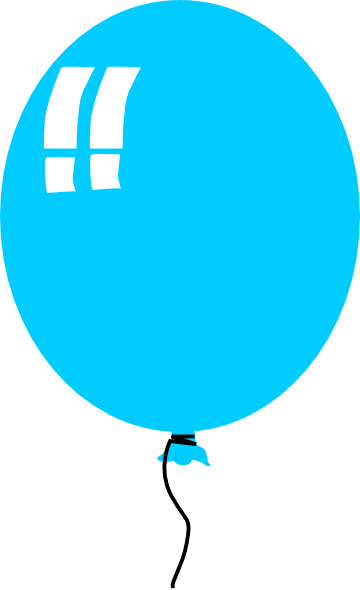 14 Blue Balloon Vector Images