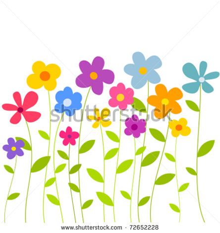 Cartoon Spring Flower Clip Art