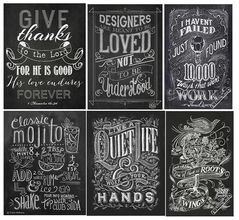 Chalkboard Fonts and Designs