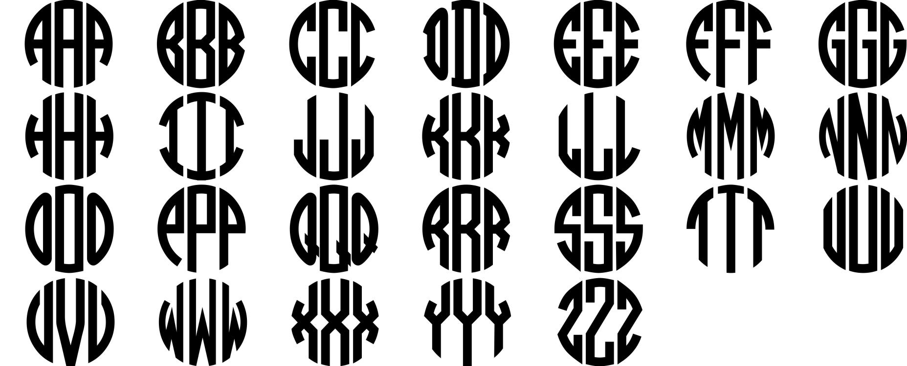 13 Block Monogram Font Images