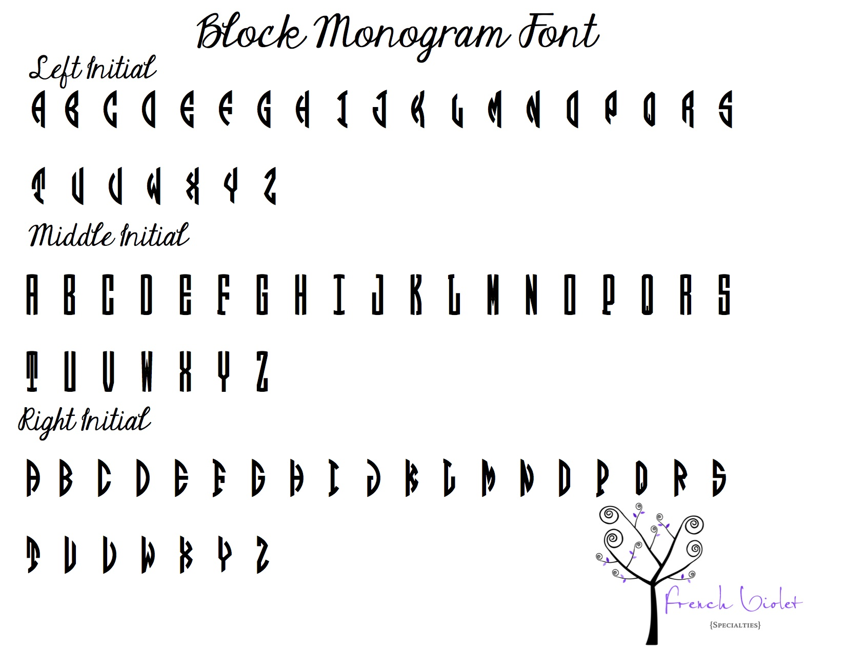 Free Circle Monogram Fonts Download