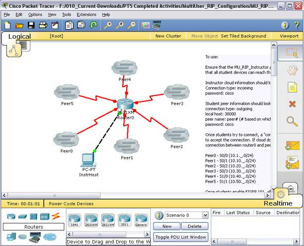 how to delete simulation in packet tracer